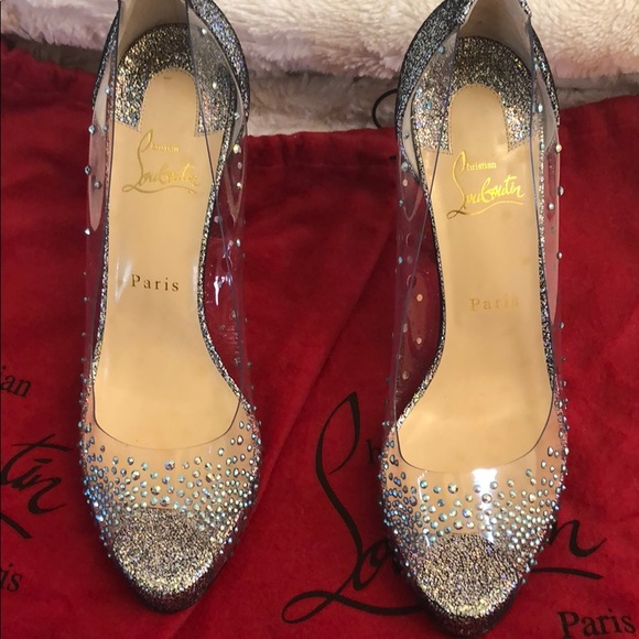 new style 893de c18d8 Brand New! Christian Louboutin crystal pumps NWT
